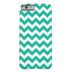Teal Chevron Pattern Barely There iPhone 6 Case