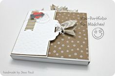 Jenni Paulin - fabulous mini album using Stampin Up Hip Hip Hooray kit (more pics in post - no instructions)