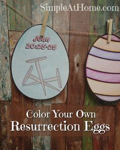 Free printable resurrection eggs. The kids will love these for #easter