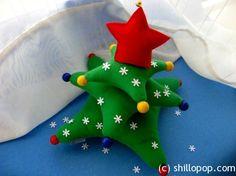 Handmade toy Christmas tree.