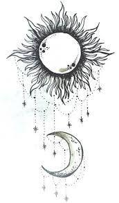 Resultado de imagen de boho moon tattoo