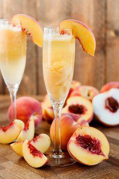 Frozen Peach Bellini Recipe
