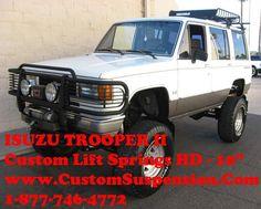 """Isuzu Trooper II 1988 - 1991 Custom 06"""" Rear Lift Springs -Pair"""