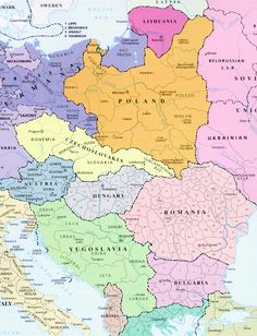 EASTERN EUROPE [1930] .gif (639×835) World History, Family History, Poland History, Dna Genealogy, Historical Maps, Old Maps, Cartography, Eastern Europe, Archaeology