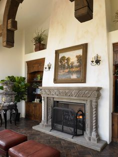 Fireplace by Viaggio Homes
