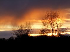 Sunset over Isle Of Arran, west coast of Scotland.