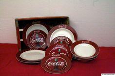 Vintage CocaCola 12 Piece Dinnerware Set by thevintagepicker, $80.00