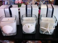 love these too!  baby shower favor for a nautical theme party.  baby powder fresh scent.