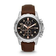 Fossil Dean Chronograph Leather Watch - Brown FS4829 | FOSSIL®