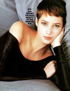 nearlyvintage:    Christy Turlington 1990    maybe a little too short?