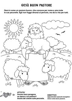 L'ANGOLO: COLORA LA BIBBIA: Gesù il buon pastore