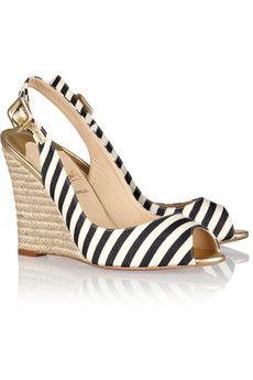 Striped Louboutin Wedges #wishlist