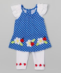 Look what I found on #zulily! Blue Ladybug Tunic & Leggings - Infant, Toddler & Girls #zulilyfinds