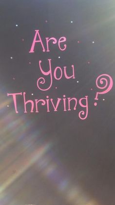 If not, you should be!! You will wonder why you didn't start thriving before now! Check it out at:  http://amylay27.le-vel.com/