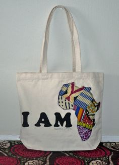 I Am African Tote Bag by QuellyRueDesigns on Etsy