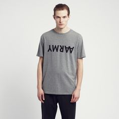 Product image of Aarmy T-shirt Grey melange wood wood