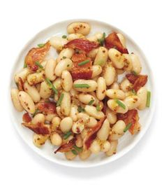 High protein dishes Bean Salad With Bacon and Chives; maybe use turkey bacon and a lean sausage? Healthy High Protein Meals, High Protein Low Carb, High Protein Recipes, Protein Foods, Low Carb Diet, Low Carb Recipes, Healthy Eating, Cooking Recipes, Healthy Recipes