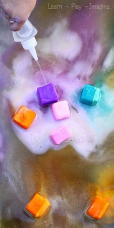 Beat the heat with this awesome erupting ice chalk paint recipe!