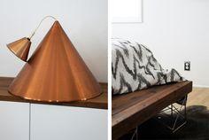 Danish copper cone lamp