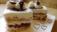 Kokos kolac Michelle kao pjena ne pece se No Bake Slovenian Food, Cake Recipes, Dessert Recipes, Kolaci I Torte, Gluten Free Cakes, Other Recipes, No Bake Desserts, Family Meals, Vanilla Cake
