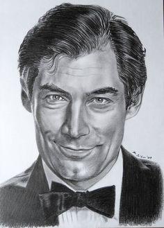 Timothy Dalton as Bond artwork (artist unknown)