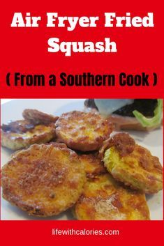If you love fried squash, you'll love this easy air fryer fried squash! This fried squash recipe is simple, with a few tips to help make it crispy and low in calories. This air fryer fried squash reci Air Fryer Recipes Vegetarian, Air Fryer Recipes Low Carb, Air Fryer Recipes Breakfast, Air Fryer Dinner Recipes, Easy Dinner Recipes, Cooking Recipes, Cooking Tips, Food Tips, Easy Recipes
