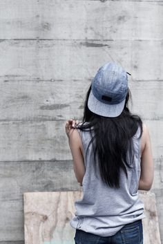 Backwards hat with a muscle tee. Comfy and stylish. Sport Fashion, Look Fashion, Fitness Fashion, Womens Fashion, Denim Fashion, Bones Tumblr, Looks Style, Style Me, Girl Style