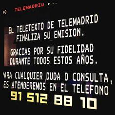 Adiós... Teletexto de Telemadrid