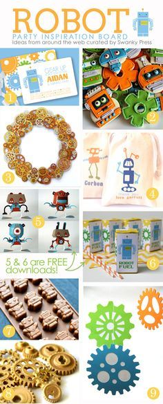 Robot Party Inspiration...love the easy ideas and shopping links!  #robotparty # robot #boybirthday | SimplySwanky Blog