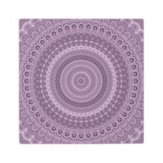 #Posters #Metal #Art - #Mauve circle mandala metal print