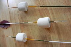 Feathered Arrow Skewer - Campfire Craft for Kids