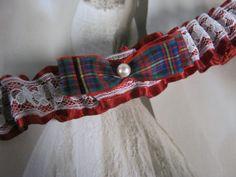 Cameron Tartan Garter by bridesstudio on Etsy