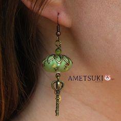 Boucles d'oreilles Clé des champs - Vert : Boucles d'oreille par ametsuki