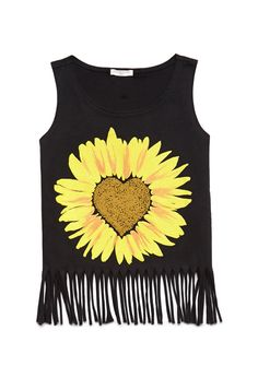 Sunflower Fringe Tank (Kids) from Forever Fashion Kids, Cute Fashion, Fashion Outfits, Fashion Beauty, Cute Summer Outfits, Pretty Outfits, Cool Outfits, Pretty Clothes, Visual Kei