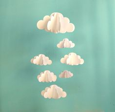 Clouds Hanging Baby Mobile/3D Paper Mobile by goshandgolly on Etsy. ONE day!