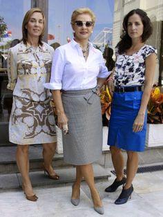 carolina herrera jr. | Carolina Herrera com as filhas Mercedes e Carolina Jr.