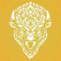 Bison Head Stencil Animal Stencil, Bison, Rooster, Stencils, Crafts, Animals, Animales, Manualidades, Animaux