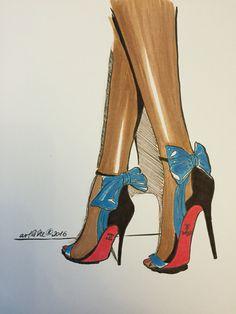 fashion illustration by artlike for a friend.