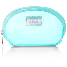Victoria's Secret Summer Crescent Makeup Bag (40 BRL) ❤ liked on Polyvore featuring beauty products, beauty accessories, bags & cases, bags, makeup, accessories, purses, green, cosmetic bags and makeup purse