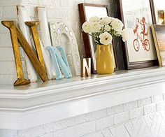 decor for a mantel or shelf