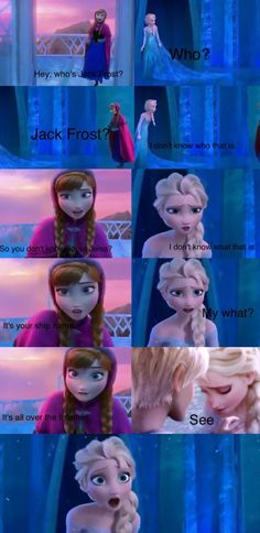 I HATE when people ship Elsa and Jack Frost! Elsa is Disney! Jack Frost is Dreamworks! Walt Disney, Cute Disney, Disney Magic, Funny Disney, Disney Couples, Jelsa, Elsa E Jack, Jack Frost And Elsa, Frozen And Tangled