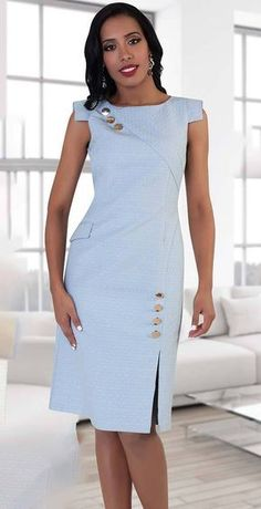 Chancele Dress - Church Suits For LessGorgeous Clothes on african fashion S Biggest Fashion Crimes Code: Really like african fashion outfitsGorgeous One Piece Women Dress Embellished with Buttons And Asymmetrical Cap Sleeves Grea Dress Outfits, Casual Dresses, Fashion Dresses, Formal Dresses, Maxi Dresses, Fashion 2017, Fashion Styles, Fashion Trends, Womens Dress Suits