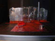 Sons Without Fathers -Model. Co-production Belgrade Theatre Coventry and the Arcola Theatre London. Scenic design by Iona McLeish. 2013