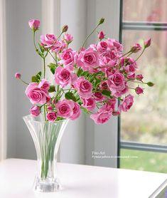 Polymer clay handmade roses ✫♦๏༺✿༻☘‿SU Jul ‿❀🎄✫🍃🌹🍃🔷️❁`✿~⊱✿ღ~❥༺✿༻🌺♛༺ ♡⊰~♥⛩⚘☮️❋ Beautiful Flowers Wallpapers, Beautiful Rose Flowers, Beautiful Flower Arrangements, Amazing Flowers, Pretty Flowers, Fresh Flowers, Spring Flowers, Clay Flowers, Flowers Nature