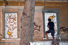 Athens, Platform, City, Happy, Painting, Painting Art, Cities, Ser Feliz, Paintings