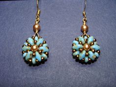 Beaded Girl: Super Quick Reversible Earrings With SuperDuos