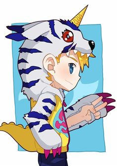 Digimon Adventure: Yamato (Matt) Cosplay Gabumon