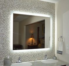"Mirrors and Marble MAM94840 Commercial Grade 48""x40"" Side Lighted LED Bath Vanity Mirror Mirrors and Marble http://www.amazon.com/dp/B00KEW338U/ref=cm_sw_r_pi_dp_s09rub07D10P4"