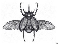 "[New] Die 10 besten Tattoo-Ideen heute (mit Bildern) – ""Beetle"" … - Diy Best Tattoo ideas Head Tattoos, Small Tattoos, Sleeve Tattoos, Cool Tattoos, Bugs Drawing, Beetle Drawing, Diy Tattoo, Egyptian Tattoo Sleeve, Rhino Beetle"