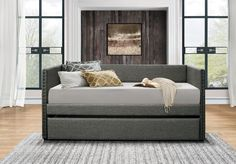 Amazon.com: Homelegance Therese Tuxedo Daybed with Nailhead Accent, Twin, Polyester Gray: Home & Kitchen
